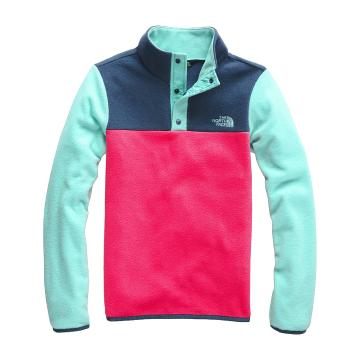 The North Face Girls Glacier 1/4 Snap - Atomic Pink