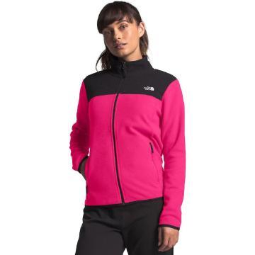 The North Face Women's TKA Glacier Full Zip Jacket - Mr. Pink/TNF Black