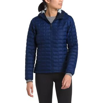 The North Face Women's Thermoball Eco Hoody - FlagBluMatte/FlagBluROMPrnt