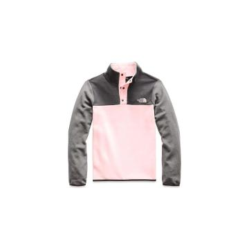 The North Face Girls Glacier 1/4 Snap - Pink Salt