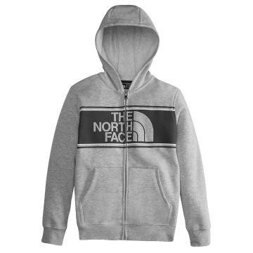 The North Face Boys Logowear F/Z Hoody - TNF Light Grey Heather