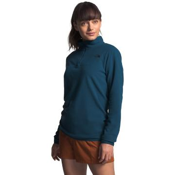 The North Face Women's TKA Glacier ¼ Zip - Blue Wing Teal - Blue Wing Teal/Blue Wing Teal