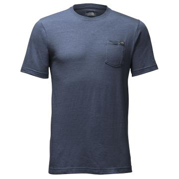 The North Face Mens Short Sleeve Triblend Pocket Tee