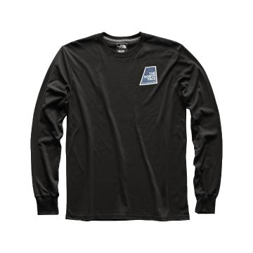 The North Face TNF Mens Long Sleeve Graphic Patch Tee - TNF Black