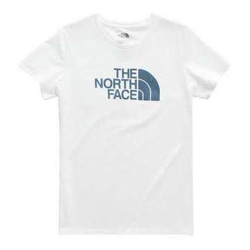 The North Face Women's Short Sleeve Half Dome Tee - TNF White/Storm Blue