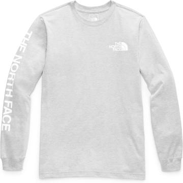 The North Face Men's Long Sleeve TNF™ Sleeve Hit Tee - TNF Light Grey Heather