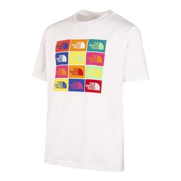 The North Face Boys Short Sleee Graphic Tee - TNF White/TNF Black
