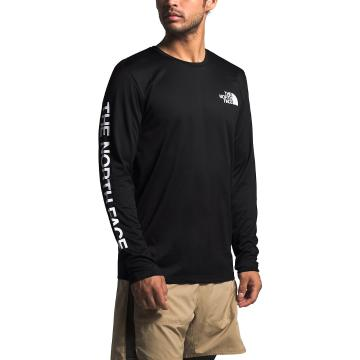 The North Face Men's Long Sleeve Reaxion Graphic Tee - TNF Black