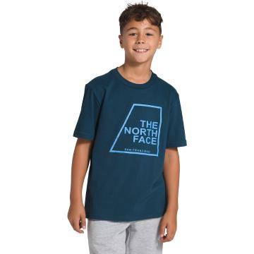 The North Face Boys' Short Sleeve Graphic Tee - Blue Wing Teal