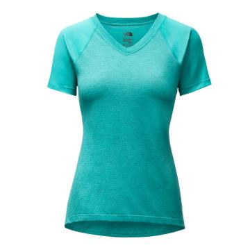 The North Face Womens Reactor V-Neck Short Sleeve Tee - Bristol Blue