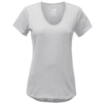 The North Face Womens Short Sleeve Day Three Top - TNF Light Grey Heather
