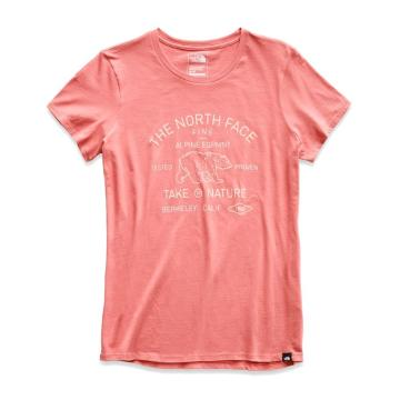 The North Face Women's Short Sleeve Bear Tee - Faded Rose
