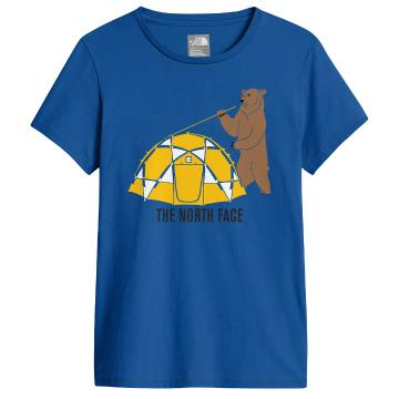The North Face Boys SS Graphic Tee - Turkish Sea/TNF Yellow