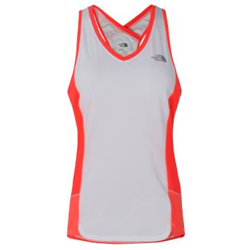 The North Face Women's GTD Tank - TNF White/Fiery Coral