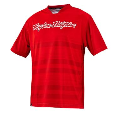 Troy Lee Designs Skyline Divided Cycle Jersey - Fire Red