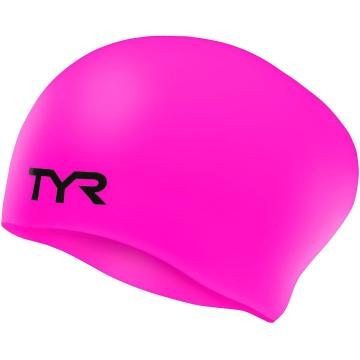 TYR Youth Long Hair Wrinkle Free Silicon Swim Cap