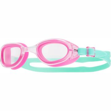 TYR Womens Special Ops 2 Transition Femme Goggle - Clear/Pink