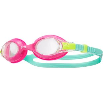 TYR 2021 Youth Swimple - Clear/Pink/Mint
