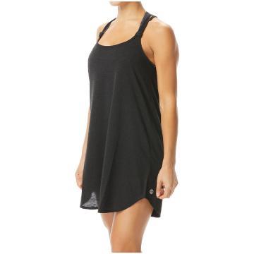 TYR 2022 Women's Solids Lolani Beach Cover Dress - Black