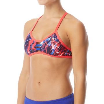 TYR Women's Penello Pacific Tieback Top - Red/White/Blue