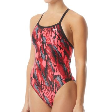 TYR Women's Brandello Diamondfit Swimsuit - Red
