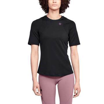 Under Armour Women's Rush Short Sleeve - Black / Black
