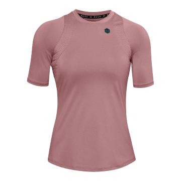 Under Armour Women's Rush Short Sleeve - Hushed Pink / Black / Black