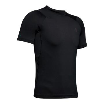 Under Armour Men's Heat Gear Rush Compression Short Sleeve - Black / Black