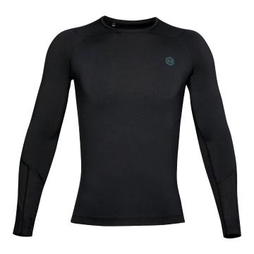 Under Armour Men's Heat Gear Rush Compression Long Sleeve - Black / Black