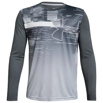 Under Armour Youth Beat the Heat UPF 50 Long Sleeve - PitchGray/ModGray