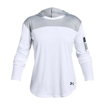 Under Armour Girls Beat The Heat UPF 50 LS Layer - White/Black