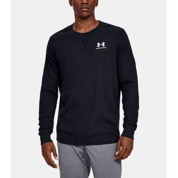 Under Armour Men's Sportstyle Essential Texture Crew - Black/White