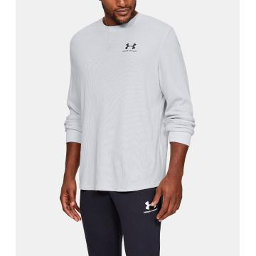 Under Armour Men's Sportstyle Essential Texture Crew - Halo Gray/Black