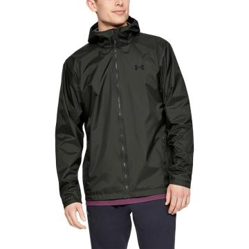 Under Armour Men's Forefront Rain Jacket - Baroque Green/Black