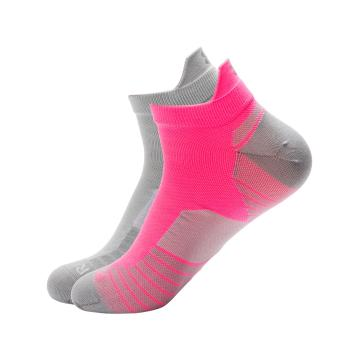 Under Armour Run No Show Tab Socks - Mojo Pink/Mod Grey/Silver