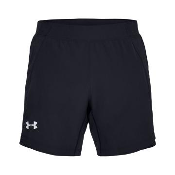 Under Armour Mens Speedpocket Qualifier 7inShort - Blk/Blk/Reflect