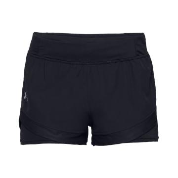 Under Armour Women's QualifierSpeedpockt 2n1 Short - Blk/Blk/Reflect