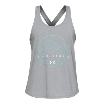 Under Armour Women's ODP Logo Graphic Tank - SteelMedHthr/FuseTeal