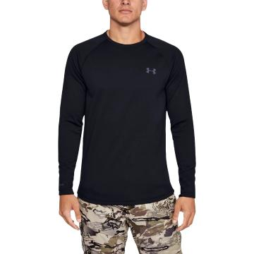 Under Armour Men's Base 4.0 Crew - Black/Pitch Grey