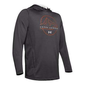 Under Armour Men's Tech Terry MTN Graphic Hoodie - Charcoal/Gray Flux