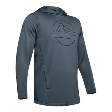 Under Armour Men's Tech Terry MTN Graphic Hoodie - Wire/Pitch Gray