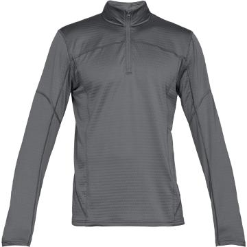 Under Armour Men's Active Fleece 1/2 Zip - Grap/Stl/FrmOrnge