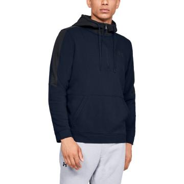 Under Armour Men's Threadbone Fleece 1/2 Zip - Acad/Black/Black