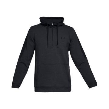 Under Armour Men's Threadbone Fleece 1/2 Zip - Black/Black/Black