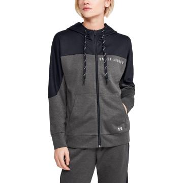 Under Armour Women's Recover Knit Full Zip Hoodie - Jet Gray/MD Heather/Blk