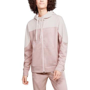 Under Armour Women's Recover Knit Full Zip - Dash Pink/MD Hthr/French Gray