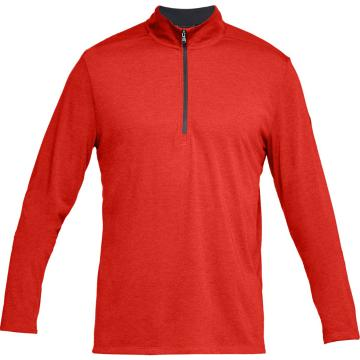 Under Armour Men's Threadborne 1/2 Zip - Radio Red/Drk Mrn