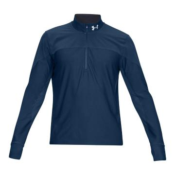 Under Armour Men's Hybrid 1/2 Zip Long Sleeve - Petrol Blue/Black
