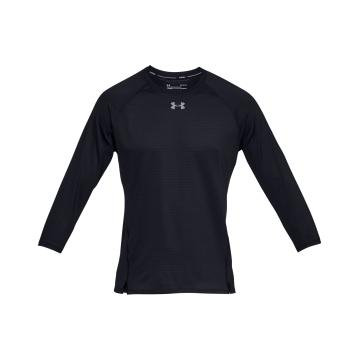 Under Armour Mens Qualifier 3/4 Sleeve - Blk/Blk/Reflect