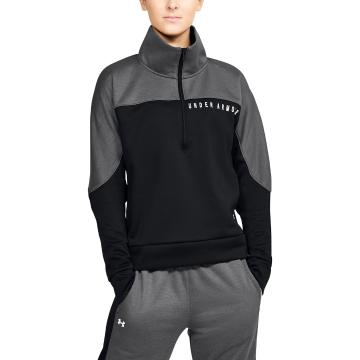 Under Armour Women's Recover Knit 1/2 Zip - Blk/JetGrayMediumHeather/Blk